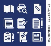 set of 9 paper filled icons...   Shutterstock .eps vector #1125579428