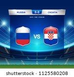 russia vs croatia scoreboard...   Shutterstock .eps vector #1125580208