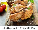 pieces of grilled or smoked... | Shutterstock . vector #1125580466