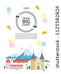 switzerland landmark... | Shutterstock .eps vector #1125582824