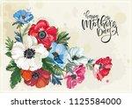floral vintage greeting card... | Shutterstock .eps vector #1125584000