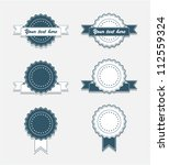 simple vintage badges with... | Shutterstock .eps vector #112559324
