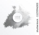 halftone abstract circular... | Shutterstock .eps vector #1125596303