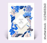 colorful botanical invitation... | Shutterstock .eps vector #1125603263