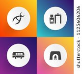 modern  simple vector icon set...   Shutterstock .eps vector #1125606206