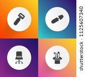 modern  simple vector icon set... | Shutterstock .eps vector #1125607340