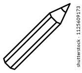 vector single black outline... | Shutterstock .eps vector #1125609173