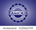famous with jean texture | Shutterstock .eps vector #1125622739