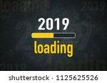 loading bar  2019 loading | Shutterstock . vector #1125625526