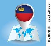 world map centered on europe... | Shutterstock .eps vector #1125629903