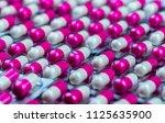 Closeup Pink White Antibiotics...