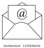 outline email icon in trendy...