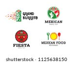 mexican burrito food logo... | Shutterstock .eps vector #1125638150