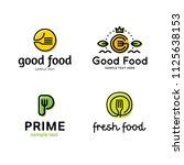 good food logo design template... | Shutterstock .eps vector #1125638153