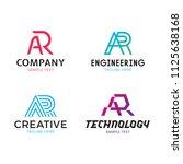 ar vector letter logo template... | Shutterstock .eps vector #1125638168