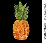 pineapple. triangulation design ... | Shutterstock .eps vector #1125638966