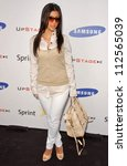 "Small photo of Kimberly Kardashian at Samsung and Sprint ""The Upstage"" Country Club. Private Location, Beverly Hills, CA. 04-15-07"