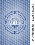 best deal blue hexagon emblem. | Shutterstock .eps vector #1125656363