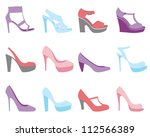 a colorful summer shoes fashion ...