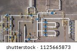 aerial top view natural gas... | Shutterstock . vector #1125665873