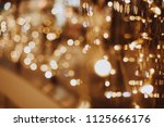 beautiful garland with little... | Shutterstock . vector #1125666176