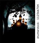 halloween scenery | Shutterstock .eps vector #112566704