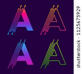 letter a colorful logotype... | Shutterstock .eps vector #1125675929