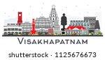 visakhapatnam skyline with gray ... | Shutterstock . vector #1125676673