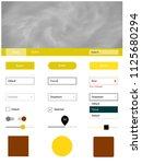 light yellow vector web ui kit...