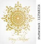 christmas background with... | Shutterstock .eps vector #112568216