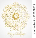 christmas background with... | Shutterstock .eps vector #112568219