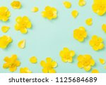 Yellow Buttercups On Green...