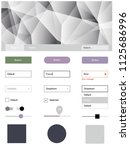 gray vector ui ux kit with...