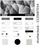 light gray vector web ui kit in ...