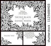 vintage delicate invitation... | Shutterstock .eps vector #1125688403