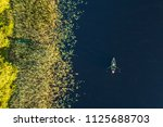 Top Down Aerial View Of Small...