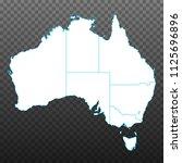 map of australia. vector... | Shutterstock .eps vector #1125696896