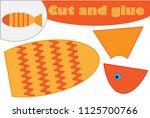 fish in cartoon style ... | Shutterstock .eps vector #1125700766