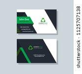 modern business card template... | Shutterstock .eps vector #1125707138