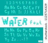 english alphabet font design. | Shutterstock .eps vector #1125714329