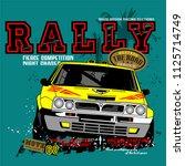 car rally vector car... | Shutterstock .eps vector #1125714749