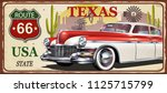 texas vintage metal sign ... | Shutterstock .eps vector #1125715799