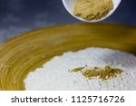 sweet spices and seasonings are ... | Shutterstock . vector #1125716726