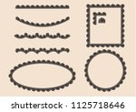 set of border lace vector by... | Shutterstock .eps vector #1125718646