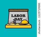 happy labor day illustration   Shutterstock .eps vector #1125719000