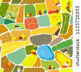 autumn landscape seamless... | Shutterstock .eps vector #1125720353