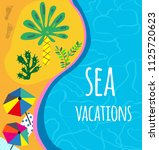 sea and beach background for... | Shutterstock .eps vector #1125720623