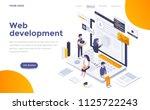 modern flat design isometric... | Shutterstock .eps vector #1125722243