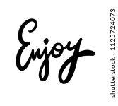 lettering inspirational poster... | Shutterstock .eps vector #1125724073
