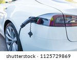 electricity charging of... | Shutterstock . vector #1125729869